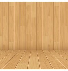 Wooden texture empty room background vector