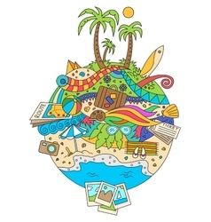 Doodle summer vacation vector