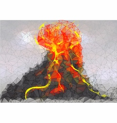 Volcano abstract background vector