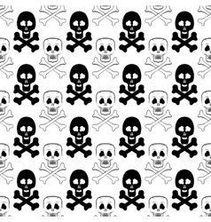 Skull cross bones seamless pattern vector