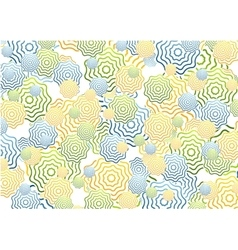 Bright abstract rings background vector