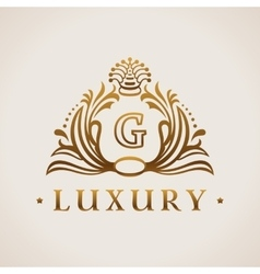 Calligraphic flourishes Luxury Logo template vector image vector image