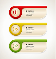 Colorful options banners or buttons vector