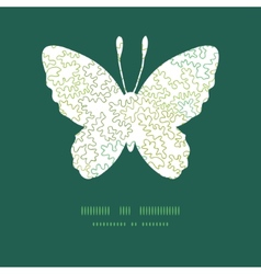 Curly doodle shapes butterfly silhouette vector