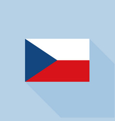 czech republic flag in official proportions vector image vector image