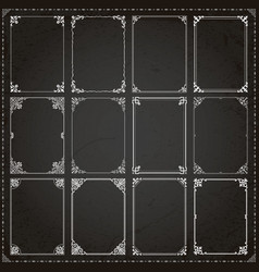 Decorative frames and borders rectangle vector