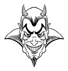 devil black vector image vector image