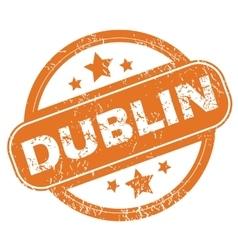 Dublin round stamp vector