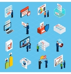 Election Campaign And Voting Isometric Icons vector image