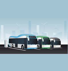 Electric buses in a row vector