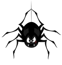Funny freaky spider vector image vector image