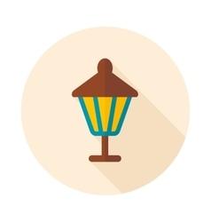 Garden lantern flat icon vector
