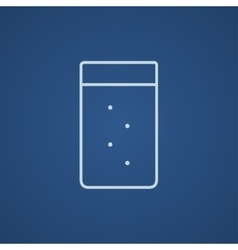 Glass of water line icon vector image