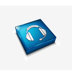 headphone web icon vector image