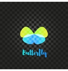 Isolated green and blue butterfly logo vector image vector image