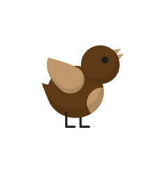 Isolated sparrow flat icon bird element vector