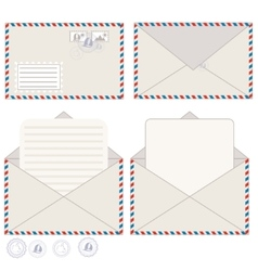 Mail Envelope And Postcard vector image