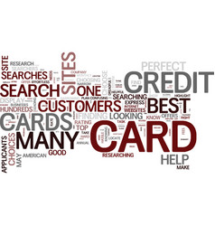 May the best credit card win text background word vector