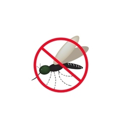 No mosquitoes isolated on vector image vector image