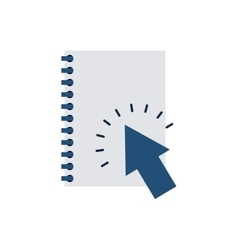 Notebook with business icon vector