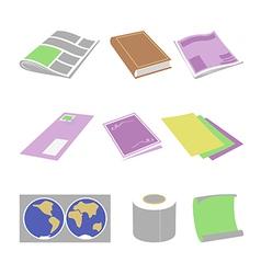 Paper goods vector