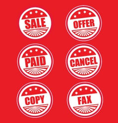 sale stickers vector image vector image