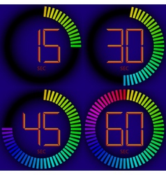 set digital timer vector image vector image