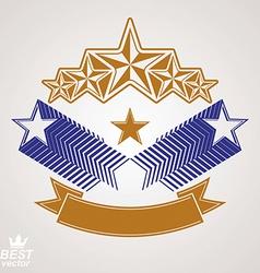 Stylized royal symbol aristocratic graphic emblem vector