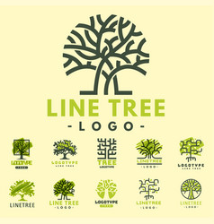 Tree outdoor travel green silhouette forest badge vector