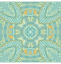 vintage blue seamles doodle pattern vector image vector image