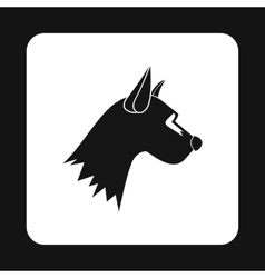 Dogs head icon simple style vector