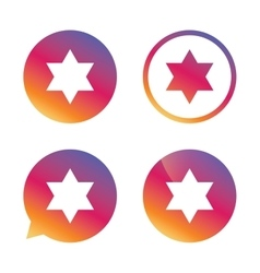 Star of david sign icon symbol of israel vector