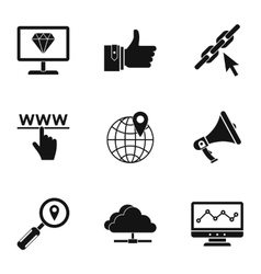 SEO icons set simple style vector image