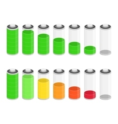 Battery charge status icon vector