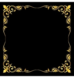 Golden ornate royal fleur de lys frame vector