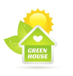 Green home eco concept vector