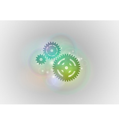 Abstract tech cogwheel green vector