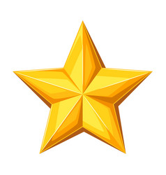 Realistic gold star on white vector