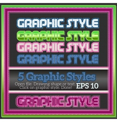 Set of colorful graphic styles for design vector
