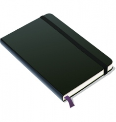 Bound notebook vector
