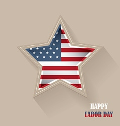 Labor day american flag star shaped vector