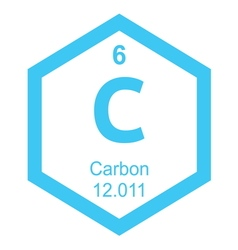 Periodic table carbon vector