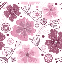 White and pink seamless floral vector
