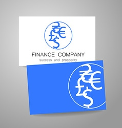Financial company dollar euro sign logo vector
