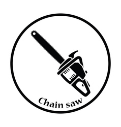 Icon of chain saw vector