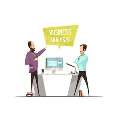Business analysis cartoon style design vector