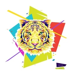 Color tiger head vector image