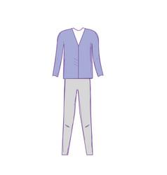 Cute man elegant wear design vector