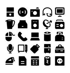Electronics icons 7 vector