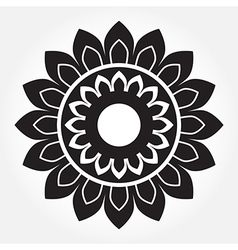floral of Thai pattern vector image